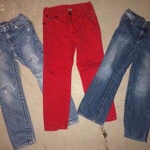 Boy's TRUE RELIGION Jeans Lot of 3 Pair Sz. 6